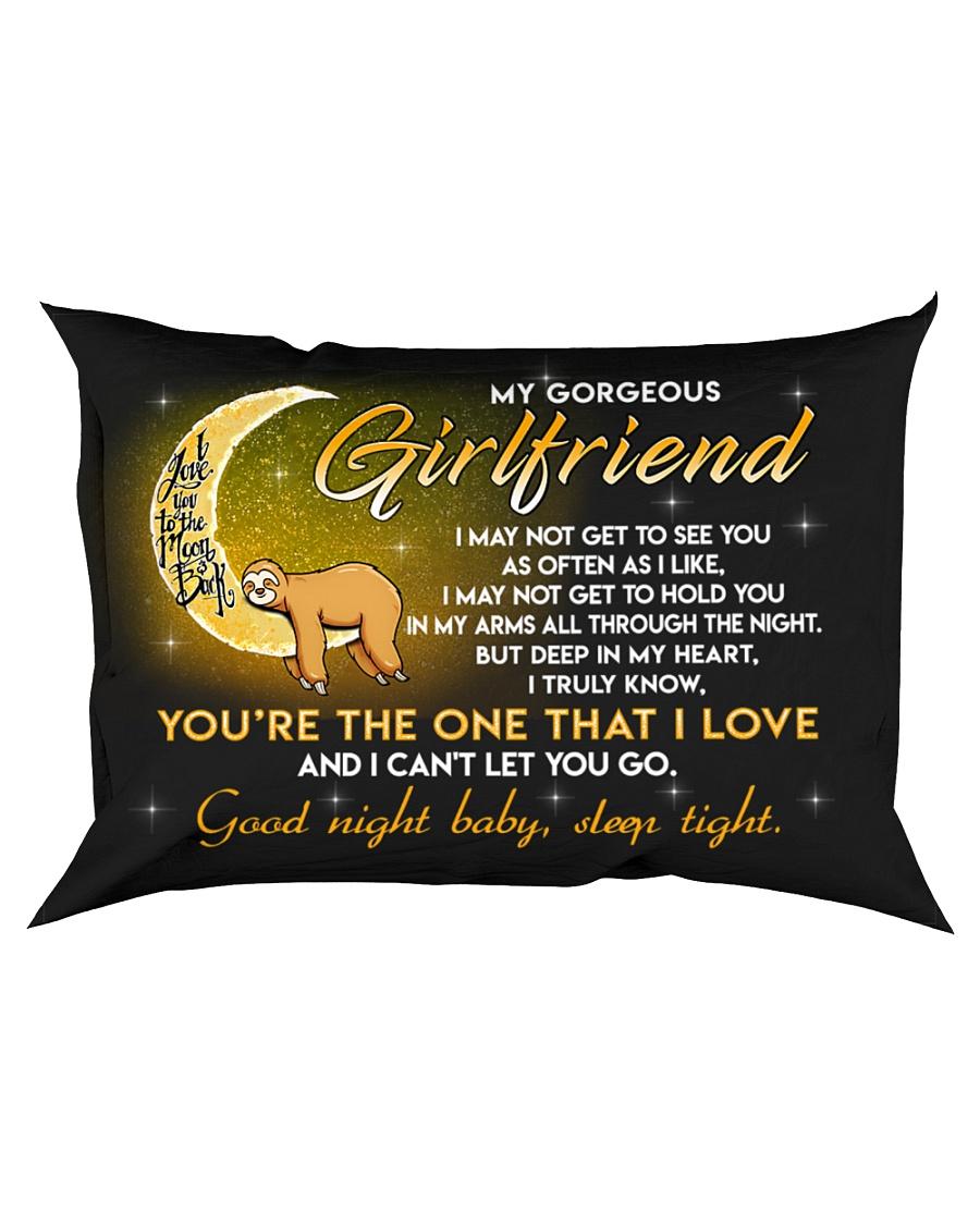 Sloth Girlfriend Good Night Baby Sleep Tight Rectangular Pillowcase