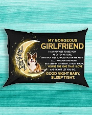 Corgi Girlfriend Sleep Tight Rectangular Pillowcase aos-pillow-rectangle-front-lifestyle-5