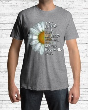 I'm With My Husband White Daisy Classic T-Shirt lifestyle-mens-crewneck-front-1