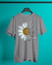 I'm With My Husband White Daisy Classic T-Shirt lifestyle-mens-crewneck-front-3