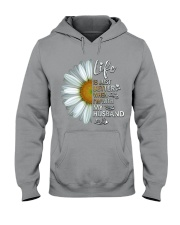 I'm With My Husband White Daisy Hooded Sweatshirt tile