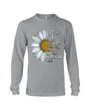 I'm With My Husband White Daisy Long Sleeve Tee thumbnail