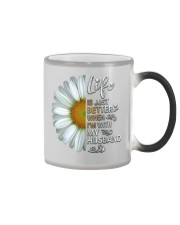 I'm With My Husband White Daisy Color Changing Mug tile