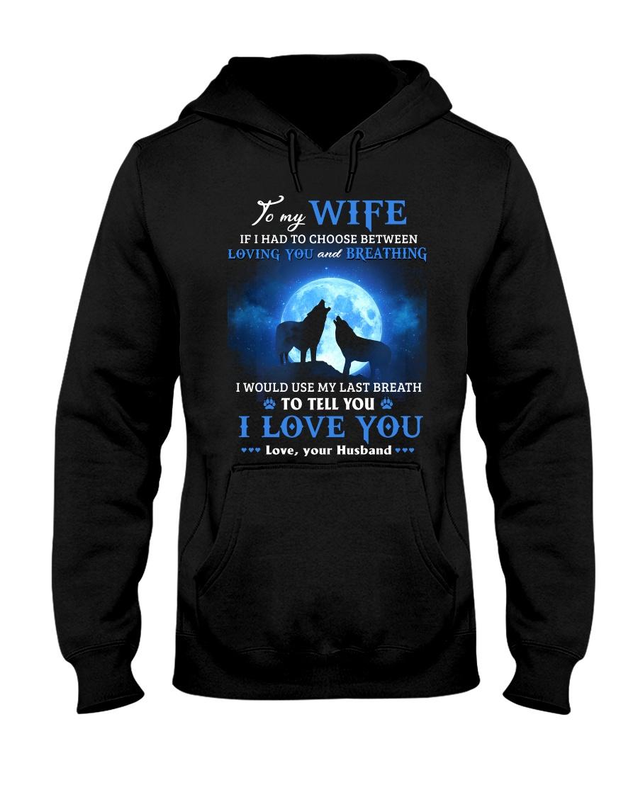 I Love You Wolf Hooded Sweatshirt
