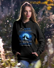 I Love You Wolf Hooded Sweatshirt lifestyle-holiday-hoodie-front-5