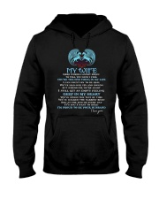 Words Begin To Tell How I Feel Wolf Wife Hooded Sweatshirt thumbnail