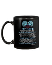 Words Begin To Tell How I Feel Wolf Wife Mug back