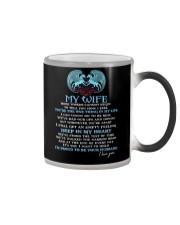 Words Begin To Tell How I Feel Wolf Wife Color Changing Mug thumbnail