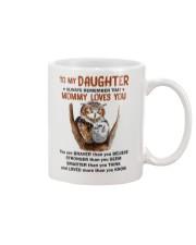 Daughter Remember Mommy Loves You Owl Mug front