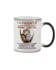 Daughter Remember Mommy Loves You Owl Color Changing Mug thumbnail