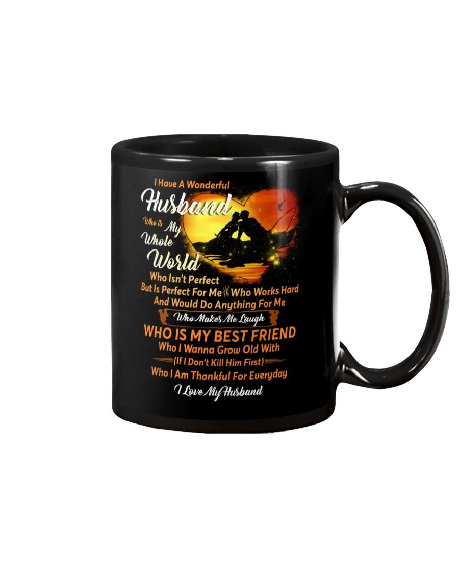 I Have A Wonderful Husband Fishing Couple Mug