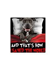 Dog Pitbull Square Magnet thumbnail