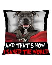 Dog Pitbull Square Pillowcase thumbnail