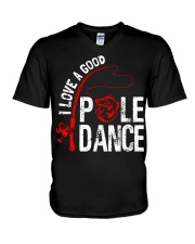 FISHING POLE DANCE GG V-Neck T-Shirt thumbnail