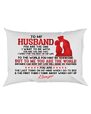 Marine Husband To Me You Are The World Rectangular Pillowcase back