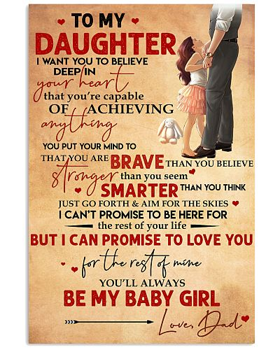 Family Daughter Dad Braver Smarter My Baby Girl Po