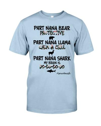 Part Nana Bear Llama Shark Grandma Life Family