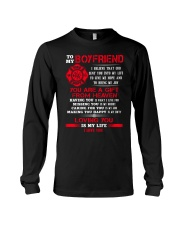 Firefighter Boyfriend Loving You Is My Life Long Sleeve Tee thumbnail