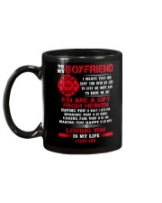 Firefighter Boyfriend Loving You Is My Life Mug back