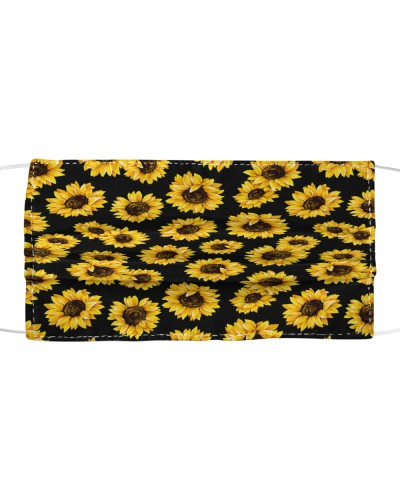Sunflower Pattern Face Mask BT