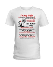When Life Gets Hard And You Feel All Alone Family Ladies T-Shirt thumbnail