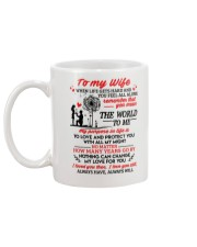 When Life Gets Hard And You Feel All Alone Family Mug back