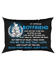 Teacher Boyfriend Good Night Sleep Tight Pillow Rectangular Pillowcase back