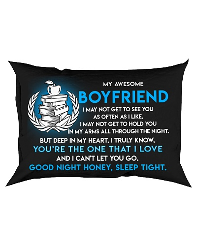 Teacher Boyfriend Good Night Sleep Tight Pillow