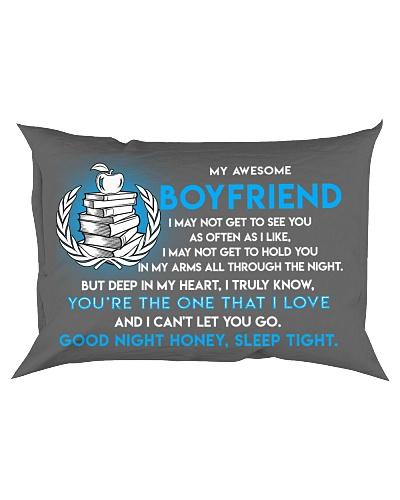 Teacher Boyfriend Good Night Sleep Tight Pillow
