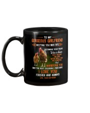 To My Gorgeous Wife Meeting You Was Fate Chicken  Mug back