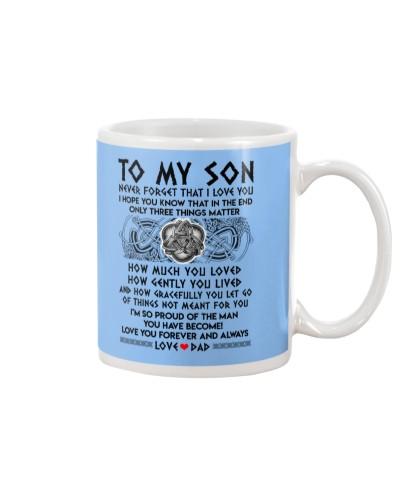Viking Son Dad Three Things Mug