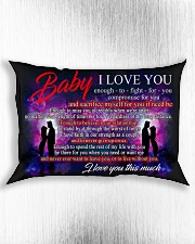 Baby I Love You Enough To Fight For You Family Rectangular Pillowcase aos-pillow-rectangle-front-lifestyle-4