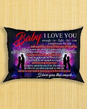 Baby I Love You Enough To Fight For You Family Rectangular Pillowcase aos-pillow-rectangle-front-lifestyle-6