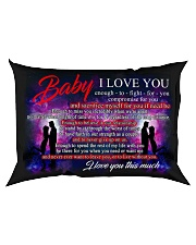 Baby I Love You Enough To Fight For You Family Rectangular Pillowcase back