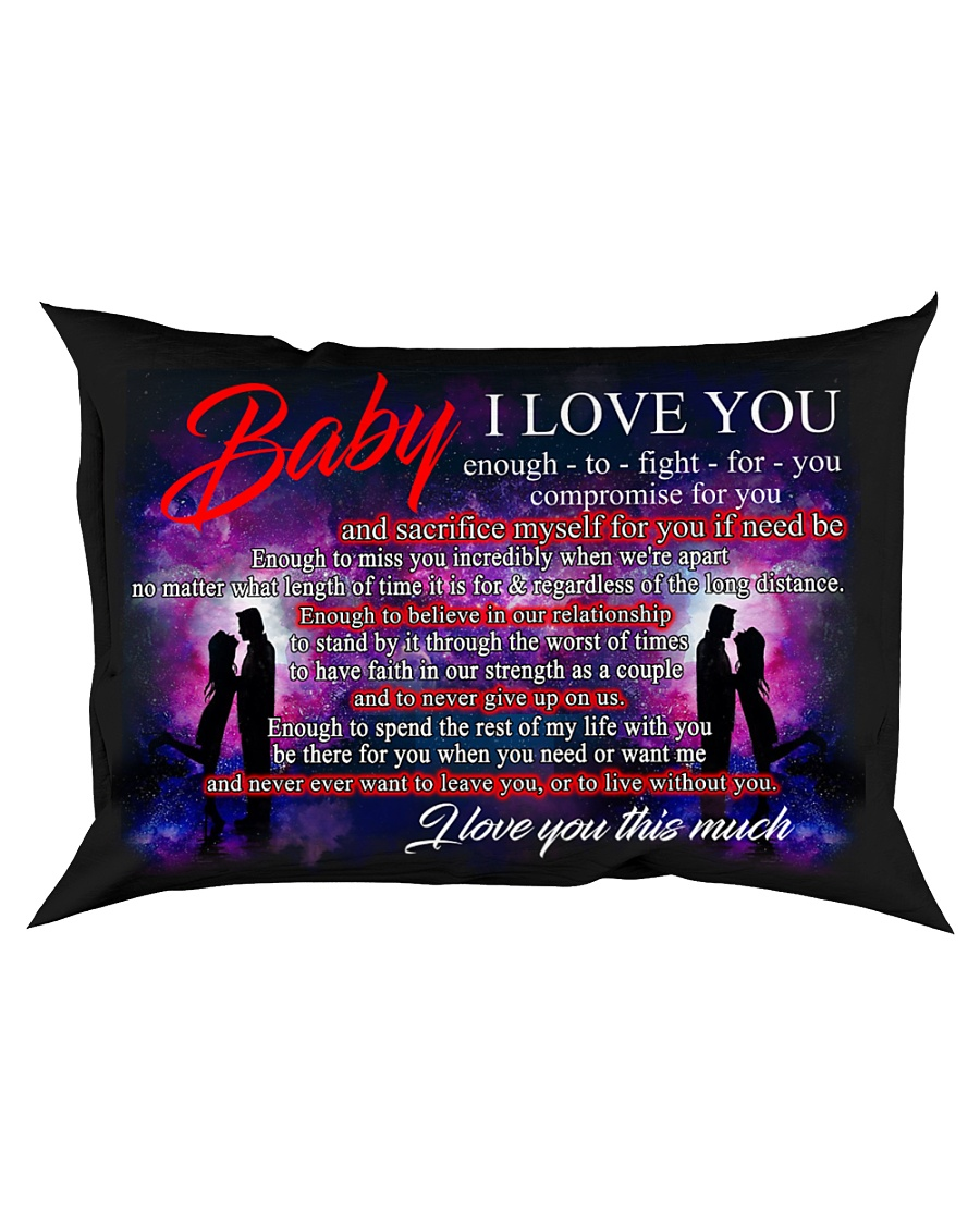 Baby I Love You Enough To Fight For You Family Rectangular Pillowcase