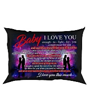 Baby I Love You Enough To Fight For You Family Rectangular Pillowcase front