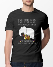 I Will Speak For You Autism Elephant  Classic T-Shirt lifestyle-mens-crewneck-front-13