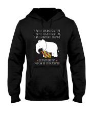 I Will Speak For You Autism Elephant  Hooded Sweatshirt thumbnail