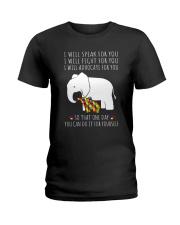 I Will Speak For You Autism Elephant  Ladies T-Shirt thumbnail