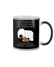 I Will Speak For You Autism Elephant  Color Changing Mug thumbnail