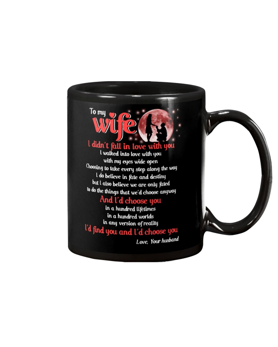 To My wife I Didnt Fall In Love With You Family Mug