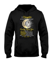 English setter Daughter Dad Daddy Loves You Hooded Sweatshirt thumbnail