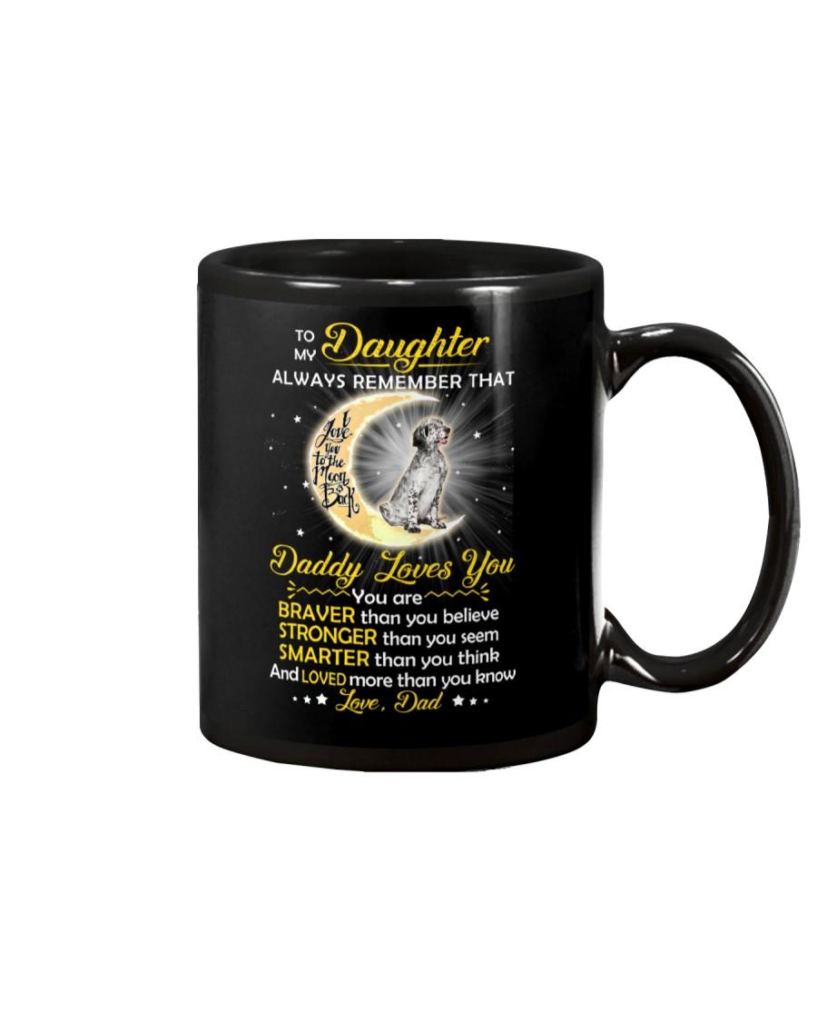 English setter Daughter Dad Daddy Loves You Mug
