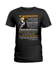 Firefighter Granddaughter I Closed My Eyes Ladies T-Shirt thumbnail