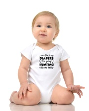Pack My Diapers I'm Going Hunting With My Daddy Onesie lifestyle-onesie-front-2