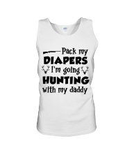 Pack My Diapers I'm Going Hunting With My Daddy Unisex Tank thumbnail