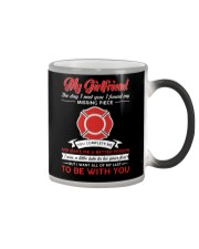 Firefighter Girlfriend You Complete Me Color Changing Mug thumbnail