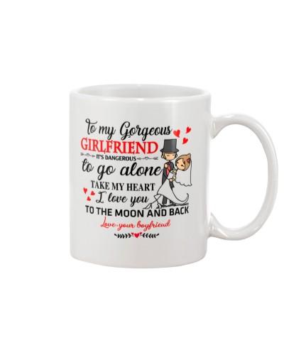 Girlfriend Dangerous To Go Alone Custom Mug CC