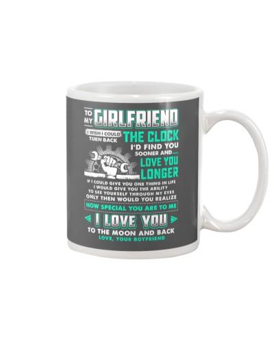Mechanic Girlfriend Clock Ability Moon Mug