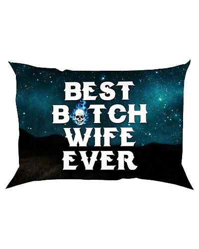 Skull Best Bitch Wife Ever Pillow
